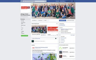 Facebook Seite der Firma Irßlinger