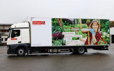 LKW mit Pflanzen Motiv