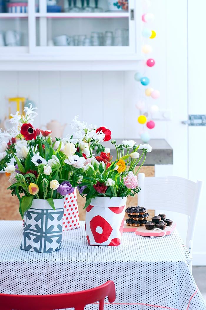 Bunte Blumen Valentinstag